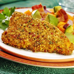 Tortilla Crusted Tilapia Fillets - Better Than A Bistro